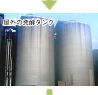 屋外の発酵タンク