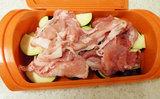 なすと豚肉の簡単レンジ蒸し