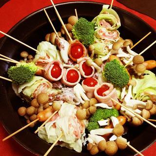 パーティーにも! 彩りがきれいな串鍋