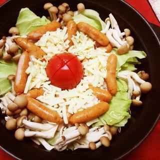 とっても簡単! トマトチーズ寄せ鍋