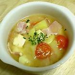 チーズとジャガイモのイタリアンみそスープ