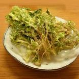野菜もおつゆも美味しい! 水菜の天ぷら