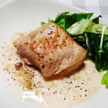 豚ヒレ肉のクリームソース