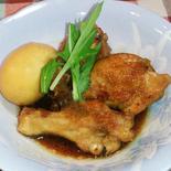 鶏手羽と卵の煮物 - 煮物の素